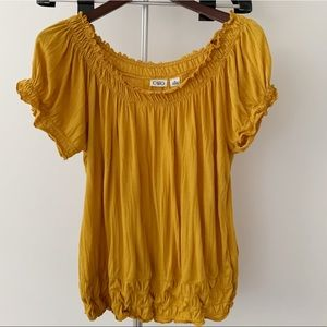 CATO - Mustard Yellow Blouse - Size XL